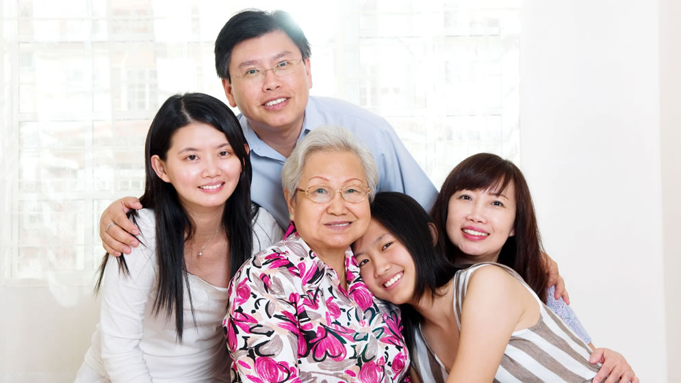 Happy Chinese Family